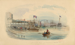 Greenwich Pier & Dreadnought Hospital Ship, c.1841